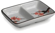 2-compartment sauce dish