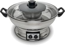 Elektrische fonduepan met grillplaat