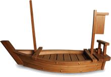 Bamboo sushi boat