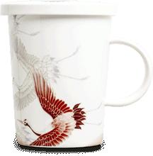 Tea mug with metal filter