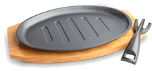 Oval grilling plate set