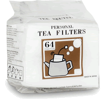 Tea filters with tag